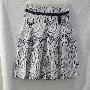 Lovely White & Black Flared Skirt